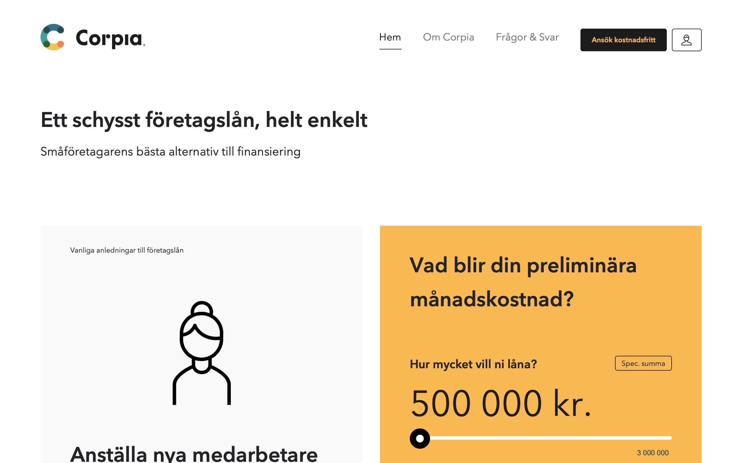Corpia företagsfinans stor bild