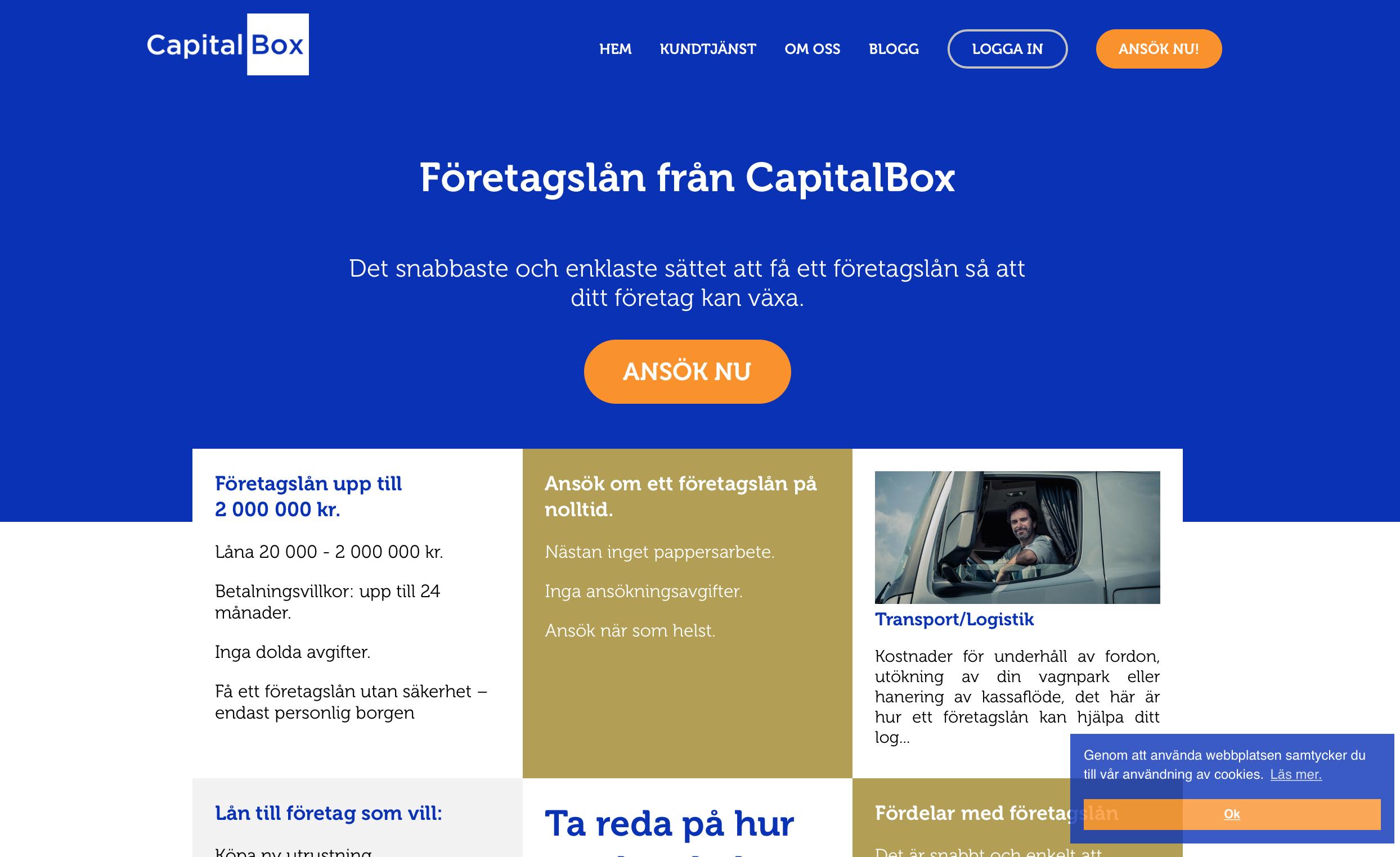 capital box stor bild